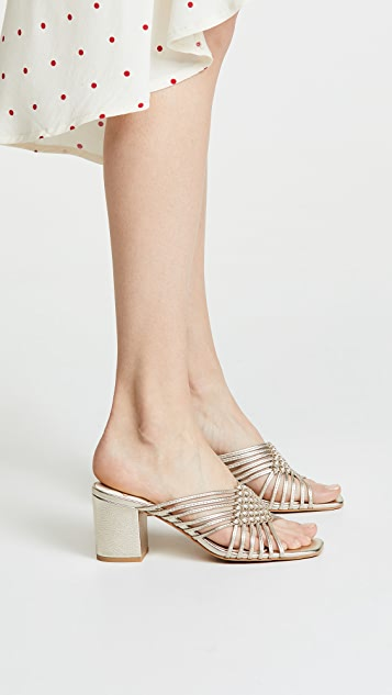Dolce Vita Delana Woven Block Heel Sandals