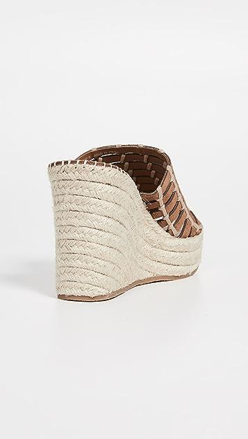 Dolce Vita Prue 编织底坡跟绑带凉鞋