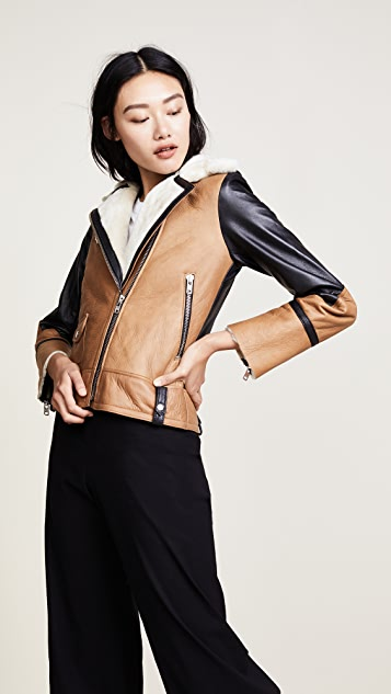 Doma Colorblock Moto Jacket