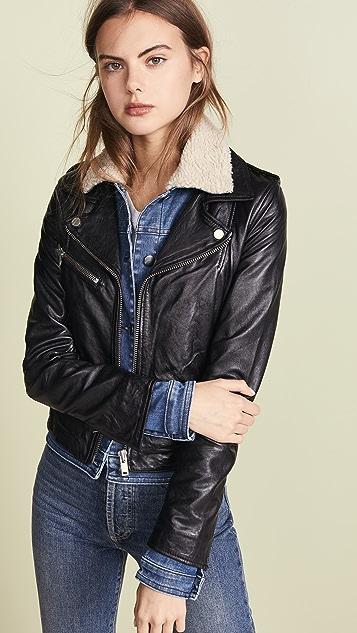 f319a29e9 Sherpa Denim & Leather Jacket