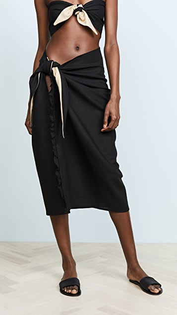 DONNI Tootsie Skirt - Black with Sand