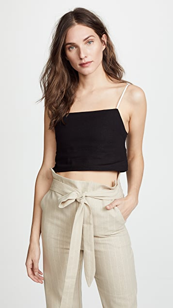 DONNI Tini Top - Black with Camel & White