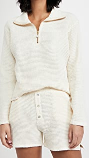 DONNI Waffle Pullover