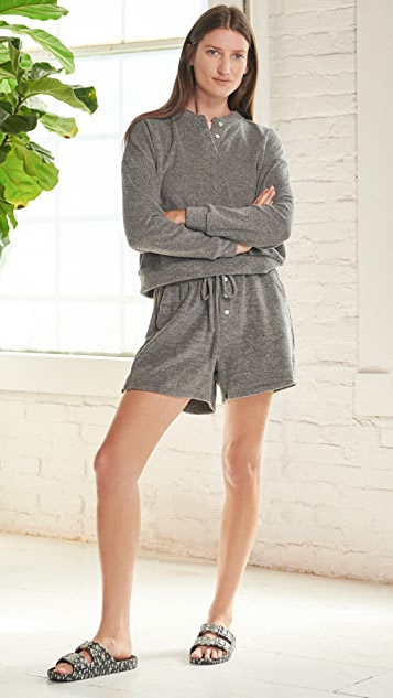 DONNI Terry Henley Sweatshirt