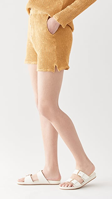 DONNI 华夫格亨利衫式短裤