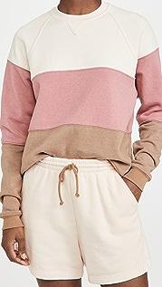 DONNI Vintage Fleece Tri Crew Sweatshirt