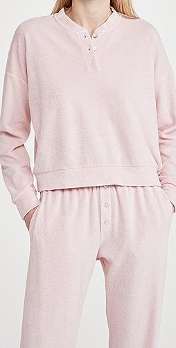 DONNI - 毛圈布亨利衫式运动衫