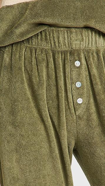 DONNI 毛圈布亨利衫式运动裤