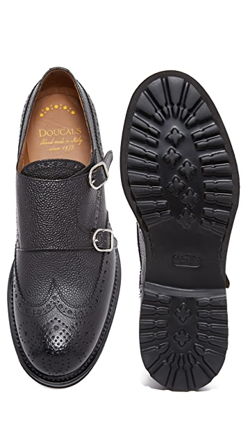 Doucal's Savino Wingtip Double Monk Strap Shoes