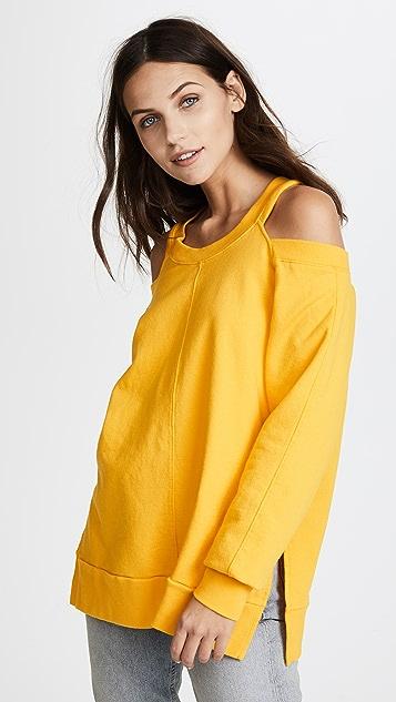 Daniel Patrick Cold Shoulder Sweatshirt