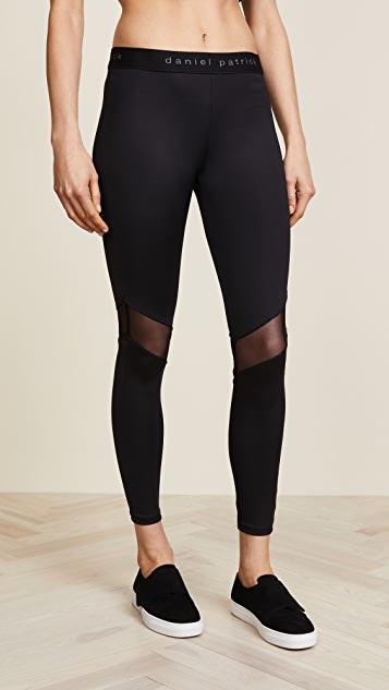 Daniel Patrick Mesh Trim Trail Leggings