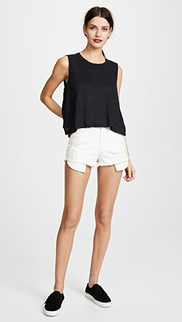 Daniel Patrick High Rise Denim Shorts