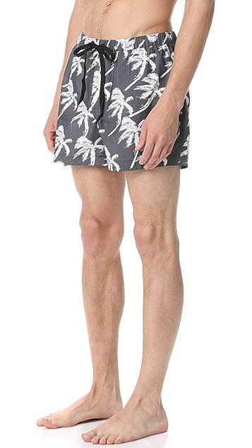 Double Rainbouu Blow Out Hawaiian Swim Shorts