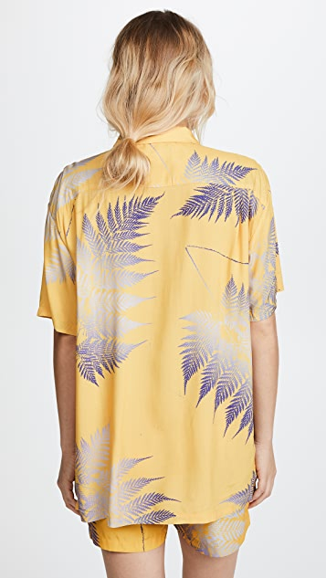 Double Rainbouu Short Sleeve Hawaiian Cover Up Shirt