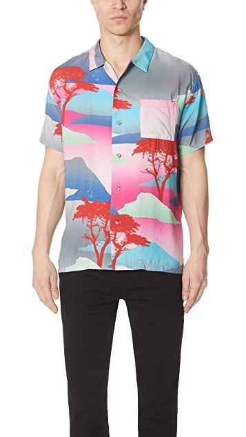 Double Rainbouu Moon Safari Night Swim Shirt