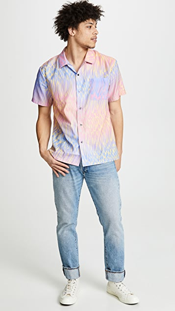 Double Rainbouu Hawaiian Champagne Supernova Shirt