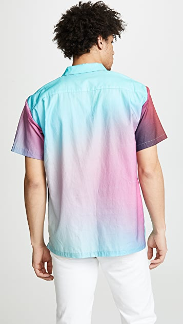 Double Rainbouu Short Sleeve Hawaiian Synth Aura Shirt