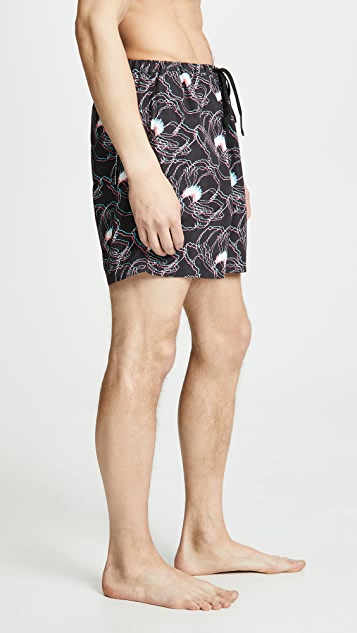 Double Rainbouu 3D Flora Night Swim Shorts