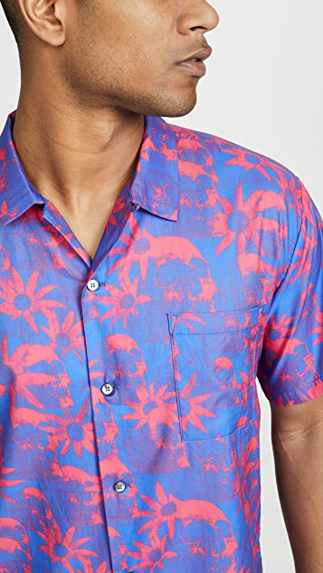 Double Rainbouu Paradise City Short Sleeve Hawaiian Shirt