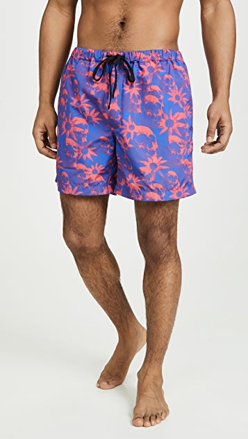 Double Rainbouu Windy Nice Night Swim Shorts