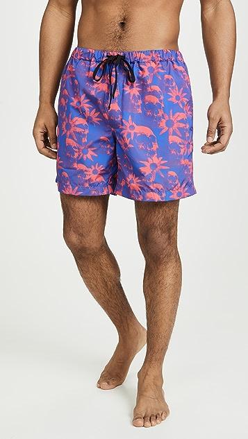 Double Rainbouu Windy Nice Night Swim Shorts