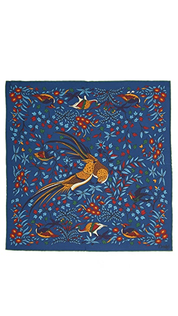 Drake's Bird of Paradise Pocket Square