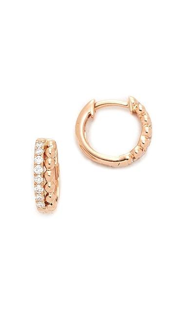 Dana Rebecca 14k Gold Poppy Rae Huggie Earrings