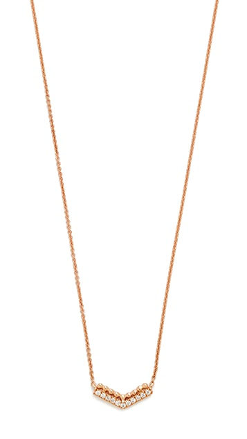 Dana Rebecca 14k Gold Poppy Rae Arrow Necklace