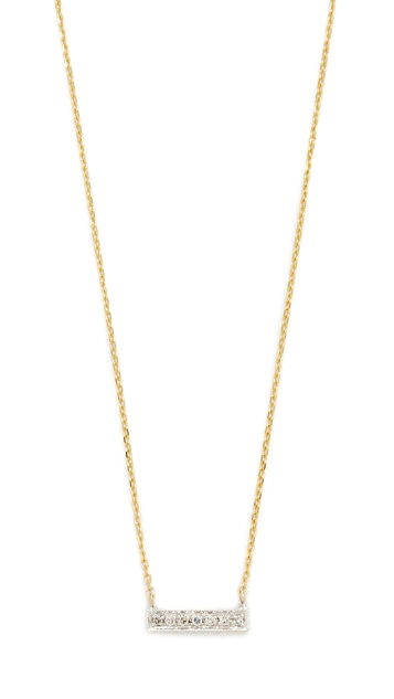 Dana Rebecca 14k Gold Sylvie Rose Bar Necklace