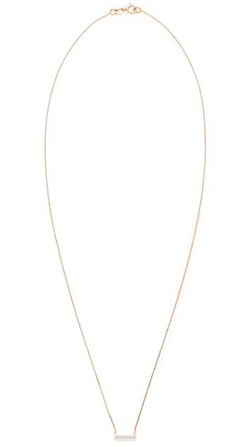 Dana Rebecca 14k Rose Gold Sylvie Rose Bar Necklace
