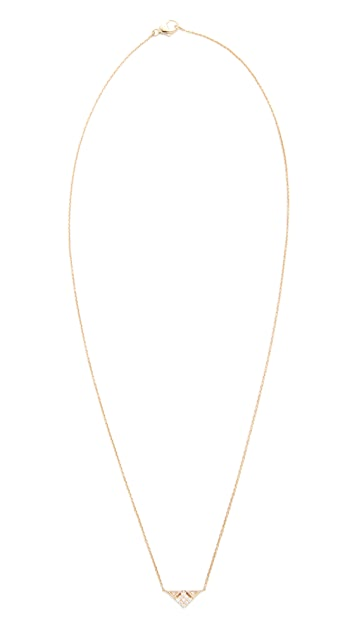 Dana Rebecca 14k Gold Emily Sarah Triangle Necklace