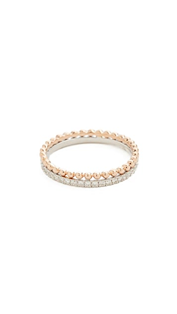 Dana Rebecca Poppy Rae Two Tone Double Band Ring