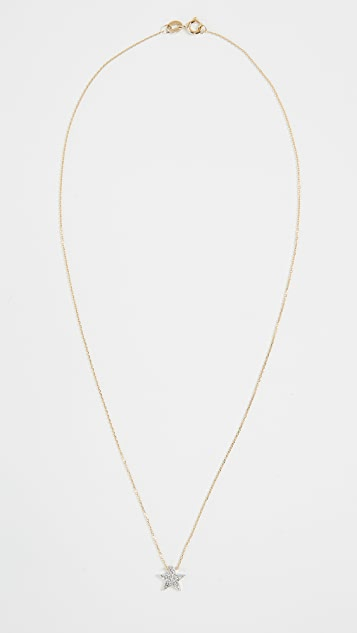 Dana Rebecca Pave Diamond Star Necklace