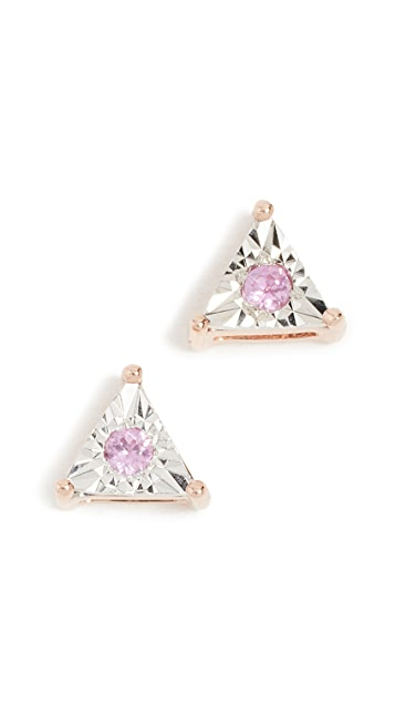 Dana Rebecca Emily Sarah Diamond Sapphire Studs