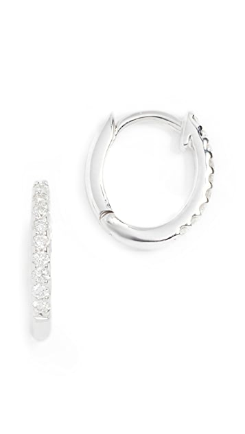 Dana Rebecca White Diamond Huggie Earrings
