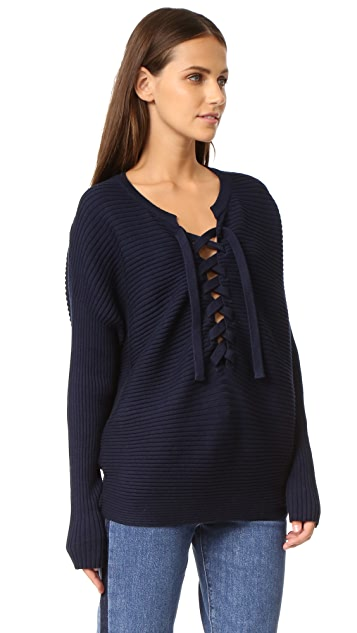 Designers Remix Ribly String Lace Up Sweater