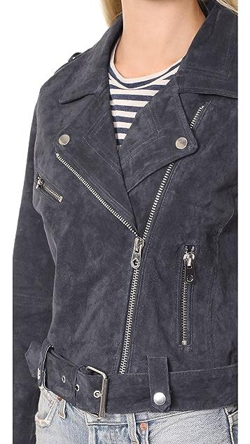 Driftwood Suede Moto Jacket