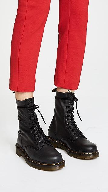 Dr Martens 1490 10-Eye Boots In Black fashionable V9YZtT