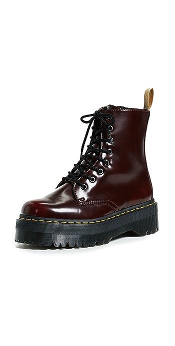 Dr. Martens Vegan Jadon II 8 Eye Boots - Cherry Red