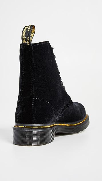 Dr. Martens 1460 Pascal Velvet 8 Eye Boots