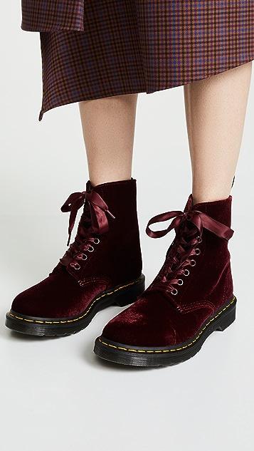 1460 Pascal Velvet 8 Eye Boots