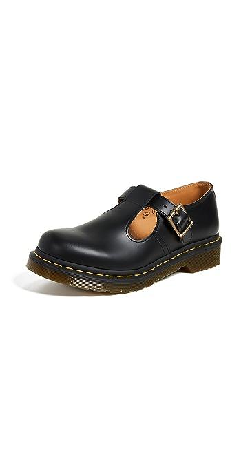 Dr. Martens Polley T Bar Shoes - Black