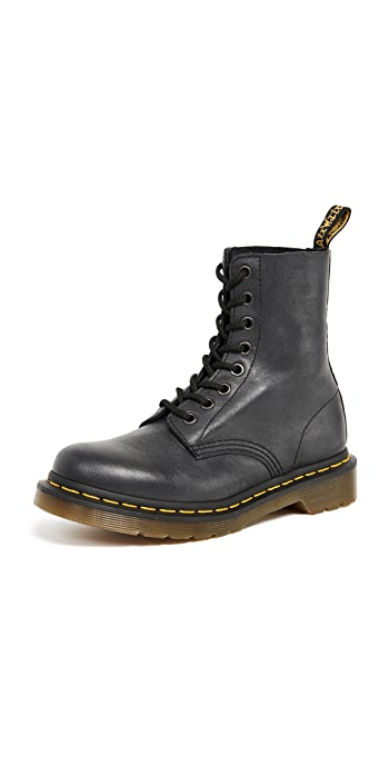 Dr. Martens 1460 Pascal Virginia 8 Eye Boots - Black