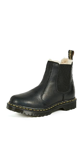 Dr. Martens Leonore Sherpa Chelsea Boots - Black
