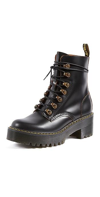 Dr. Martens Leona 7 Hook Boots - Black
