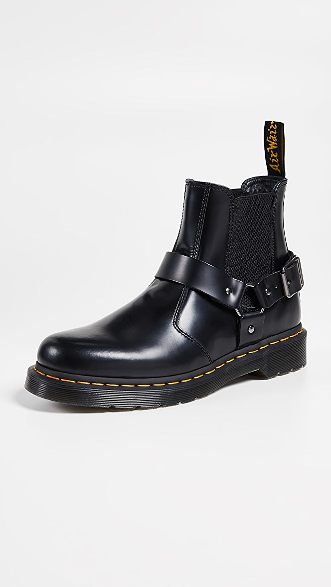 Dr. Martens Wincox 6 eye Boots In Black for men
