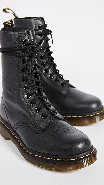 Dr. Martens ORIGINALS 1490 10 EYE BOOT - Lace-up boots - black 563MRrQ