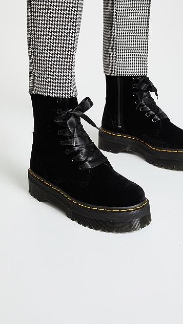 Dr. Martens Jadon 8 Eye Velvet Boots