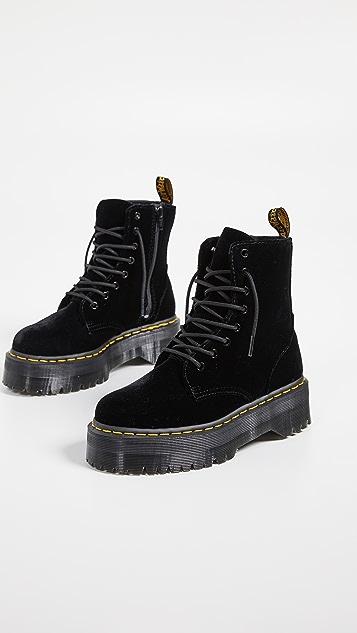 5f00520904cb3f ... Dr. Martens Jadon 8 Eye Velvet Boots ...