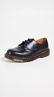 Dr. Martens Made In England Vintage 1461 3 Eye Lace Ups
